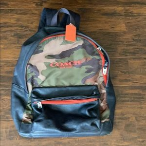 Coach.. Navy & Camouflage Backpack.